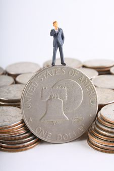 Silver Dollar Royalty Free Stock Photo