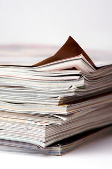 Free A Stack Of Magazines Royalty Free Stock Photo - 7762515