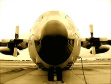 Free C-130 Airplane Belgian Army Royalty Free Stock Photography - 7762697