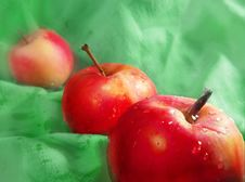 Free Three Apples Royalty Free Stock Photography - 7762787