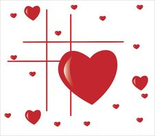 Free Lines With Big And Small Hearts Royalty Free Stock Photo - 7762975
