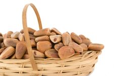 Free Pine Nuts In A Basket Royalty Free Stock Photography - 7763107