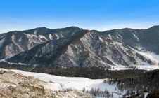 Peak Of Mountain. Winter In Altay. Royalty Free Stock Image