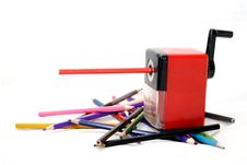 Free Mechanical Sharpener And Pencils Stock Photography - 7763902