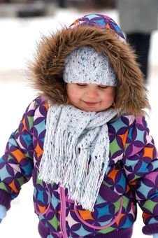 Free Winter Portrait Of Child Stock Photography - 7764102