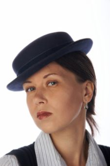 Free Young Woman In 30 S Style Hat Stock Photos - 7764763