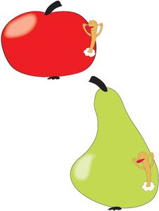 Free Apple And Pear Royalty Free Stock Photo - 7764775