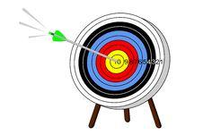 Free Arrow Hits Mark Stock Photo - 7765000
