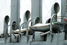 Saint Petersburg, Cruiser Aurora (detail) Stock Images