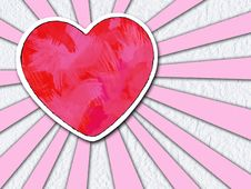 Shine Heart Stock Photography