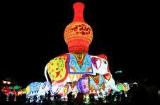 Elephant Lamp Royalty Free Stock Image