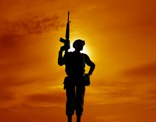 Free The Armed Soldier Stock Photography - 7765582