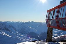 Free Winter View From The Top Of The Mountain Stock Photography - 7765752