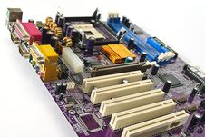 Free Computer Motherboard, Royalty Free Stock Images - 7765979