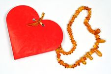 Free Valentine Day  Gift Amber Necklace Stock Images - 7765994