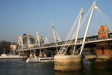 Free Hungerford Bridge, London Stock Photography - 7766432