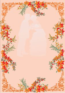 Free Wedding Couple In Frame Royalty Free Stock Photo - 7766445