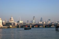 Free View Along River Thames Royalty Free Stock Image - 7766486