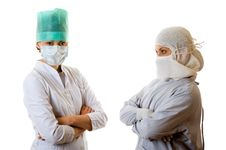 Free Two Young Doctors Royalty Free Stock Photos - 7767208