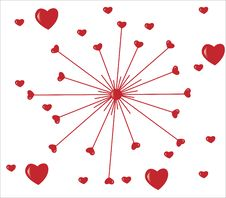 Red Heart On Background Royalty Free Stock Image