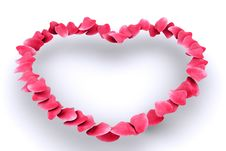 Pink Rose Petal Heart Royalty Free Stock Photography