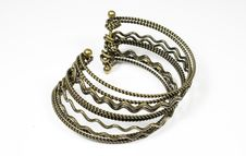 Free Bracelet From Bronze Metal Stock Image - 7767751