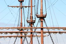 Free Masts Of Old Ship Stock Photo - 7768160