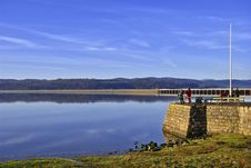 Free Fishermen On Arnside Pier Stock Photography - 7768372