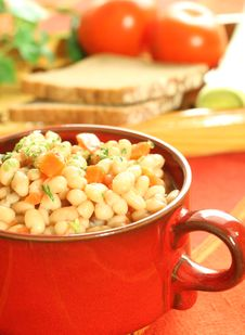 Free Vegetable Meal Of Beans And Carrots Stock Image - 7768581