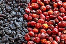 Free Raisins And Hips Royalty Free Stock Image - 7768756