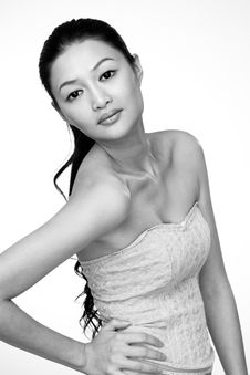 Free Attractive Asian Young Woman Royalty Free Stock Photography - 7768967