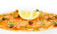Free Salmon Carpaccio Royalty Free Stock Photos - 7769358