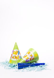 Party Hats And Paper Horns Royalty Free Stock Photo