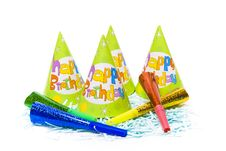 Party Hats And Paper Horns Royalty Free Stock Images