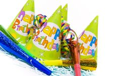 Party Hats And Paper Horns Stock Image