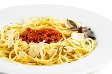Free Spaghetti With Bolognese Sauce Stock Photography - 7769762