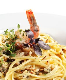 Free Spaghetti With Shrimp Stock Photos - 7769793