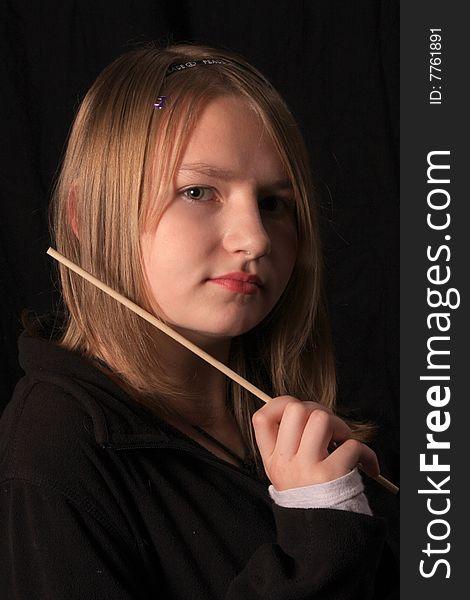 Teen girl with wand 2