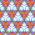 Free Blue And Orange Triangular Tile Pattern Royalty Free Stock Images - 7770839