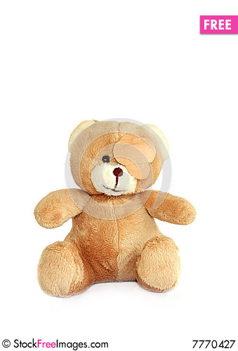 Free Sick Teddy Bear Royalty Free Stock Photography - 7770427