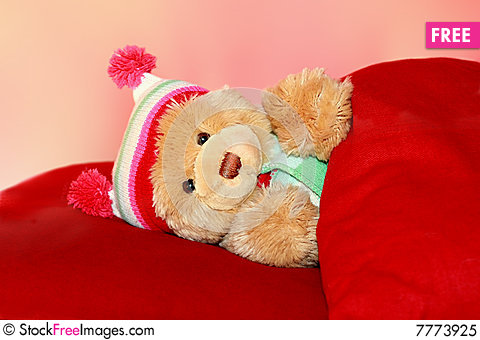 Teddy bear in bed free stock photos amp images 7773925