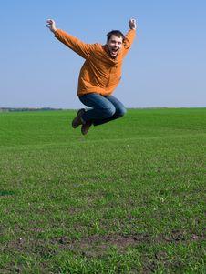 Free Jumping Man Royalty Free Stock Photography - 7770047