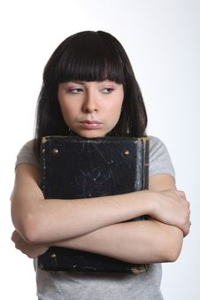 Free Young Woman Stressing Before Examinations Royalty Free Stock Photography - 7770127