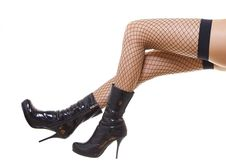 Free Legs In Shoes Stock Photography - 7770292