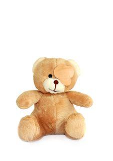Free Sick Teddy Bear Royalty Free Stock Photography - 7770427