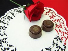 Chocolates And Rose Royalty Free Stock Photo