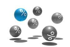 Isolated Spheres With Percent Symbol Royalty Free Stock Photo