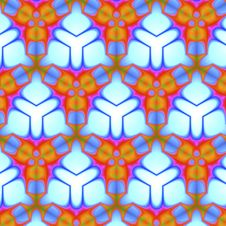 Free Blue And Orange Triangular Tile Pattern Royalty Free Stock Images - 7770839
