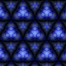 Free Triangular Blue Abstract Tile Pattern Royalty Free Stock Image - 7770976