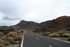 Free Road Near The Teide Volcano Stock Image - 7770991